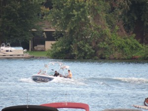 Boating on Cass Lake West Bloomfield MI