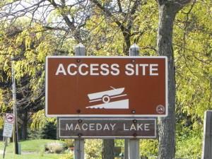 Maceday Lake access