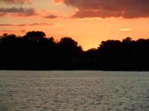 Sunset on White Lake in White Lake MI