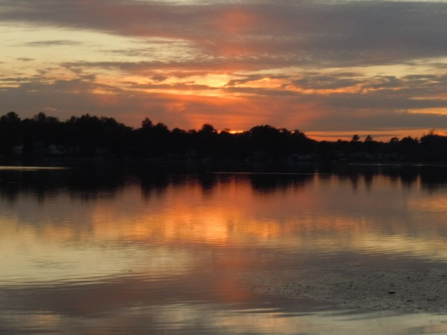 Sunset on Oxbow Lake White Lake Twp Michigan