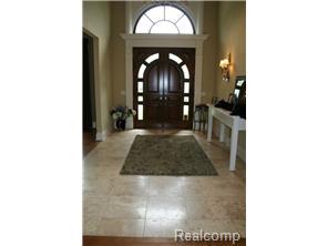 Travertine Floors in Foyer