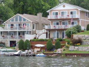 Lake houses on White Lake