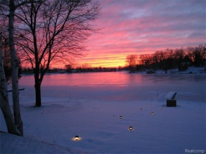 Even the winter sunsets are beautiful