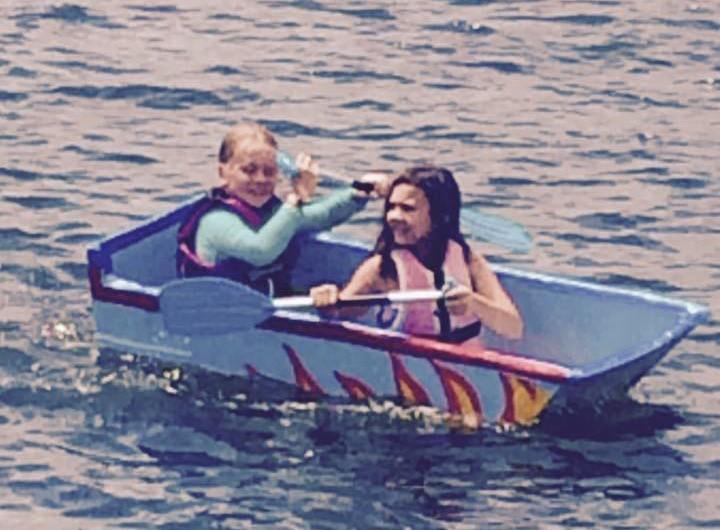 Kids entry - White Lake Cardboard boat races