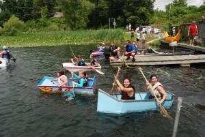 White Lake cardboard boat races 2016