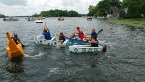 Cardboard boat races on White Lake 2016